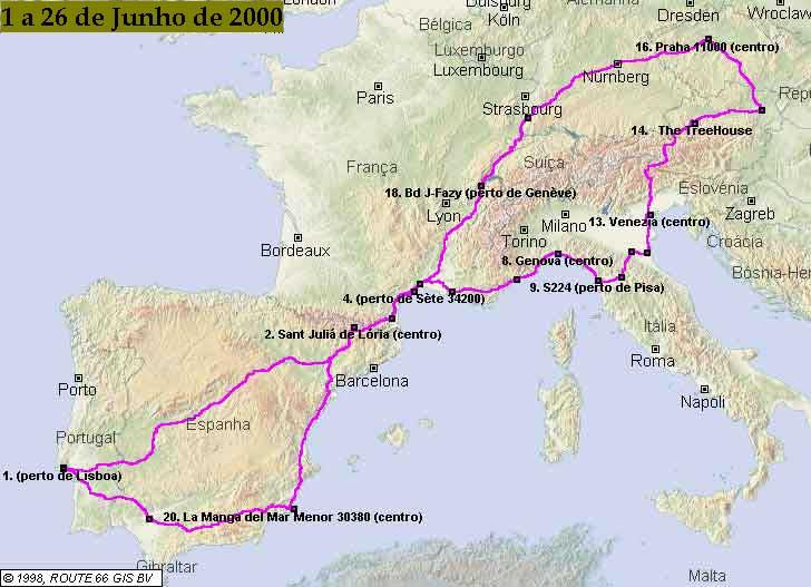 Mapa Michelin Lisboa